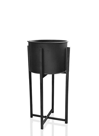 The Mia Saksı 75 Cm - Siyah Siyah